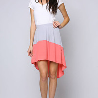 Colorblock Asymmetrical Skirt from lovesparklandco