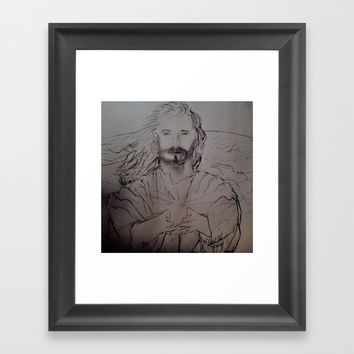 Jesus the Light of the world (Full) Framed Art Print by Love Art Wonders by God Nickyart