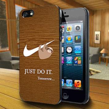 Just Do It Tomorrow - Print on Hard Cover For iPhone 4/4S and iPhone 5 Case - Please Leave Message For Device And Colour Case