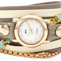 La Mer Collections Women's LMMULTI5002 St. Tropez Rose Gold-Tone Wrap Bracelet Watch