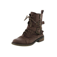 Lucky Brand Womens Nolan Leather Buckle Ankle Boots