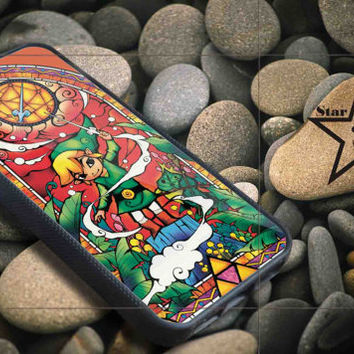 Zelda Stained Glass iPhone Case, iPhone 4/4S, 5/5S, 5c, Samsung S3, S4 Case, Hard Plastic and Rubber Case By Dsign Star 08