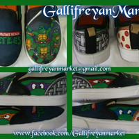Custom Hand Painted Teenage Mutant Ninja Turtles Vans ( TNMT)