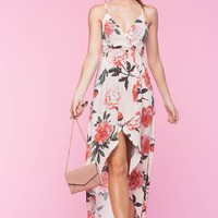 Camellia Floral Hi Lo Maxi Dress