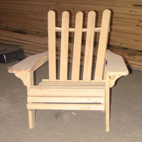 Children's Wood Adirondack Chair unfinished Pine