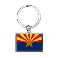 Arizona State Flag Rectangle Keychain