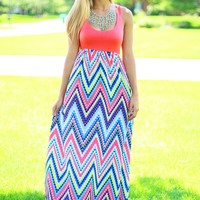 All the Colors Chevron Maxi