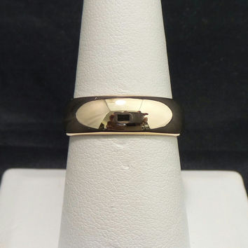 Heavy Vintage 18K Yellow Gold 6mm Polished Classic Wedding Band - Size 8
