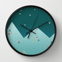 Winter Night Wall Clock by Cuttlefishlove