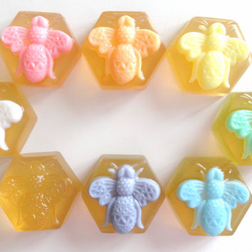 Bee Soap Party Favors with Tag Set of 10