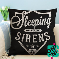 Sleeping With Sirens Logo Zippered Pillow Case, Cushion Case, Pillow case