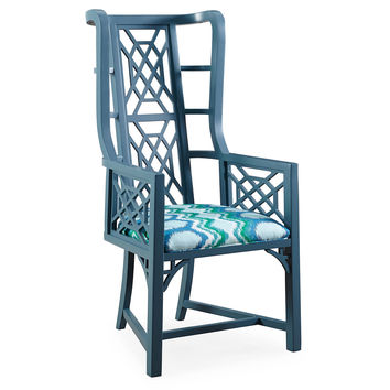 Taylor Burke Home, Kings Grant Chair, Turquoise/Green, Accent & Occasional Chairs