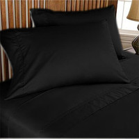1000TC Egyptian Cotton Black Super Deep Fitted Sheet Set - Available in All Size