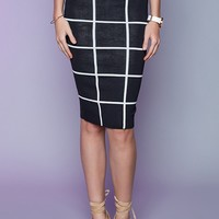 Gridlock Skirt Black