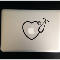 Stethoscope-RN  Apple Macbook Pro & Air LAPTOP Decal/Sticker