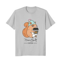 Never enough coffee squirrel t-shirts