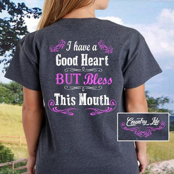 Country Life Pink Bless This Mouth T-Shirt