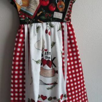 Kiss The Cook Terry Cloth Kitchen Oven Dress Towel