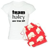 CafePress Women's Light Pajamas - Team Haley - One Tree Hill Women's Light Pajamas - L With Republican Pant