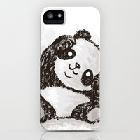 Cute Panda iPhone Case by Toru Sanogawa