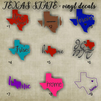 "XSMALL 3""-4"" - TEXAS vinyl decals - 1-36 - car decal - laptop sticker - decals - car sticker - stickers"