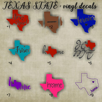 "XSMALL 3""-4"" - TEXAS vinyl decals - 1-36 - texas car sticker - car sticker - vinyl sticker - decal"