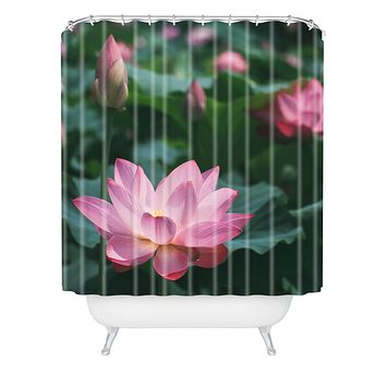 Catherine McDonald Lotus Field Shower Curtain
