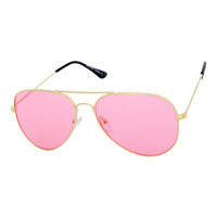 Translucent Retro Aviator Sunglasses