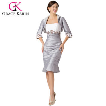 New Arrival Taffeta Strapless Fishtail Mermaid Evening Dress Short Prom Gown Party Formal Dresses With Jacket 6266