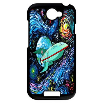 Futurama Art Planet Express Starry Night HTC One S Case