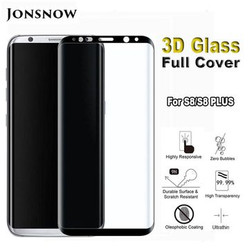 3D Full Screen Cover Tempered Glass for Samsung Galaxy S8 / S8 Plus  Explosion-proof Front LCD  Screen Protector