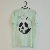 Disney Snow Whites Apple Skull Like Pastel Colour Washed T-shirt