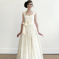 Tea/Blush wedding gown by englishdept on Etsy