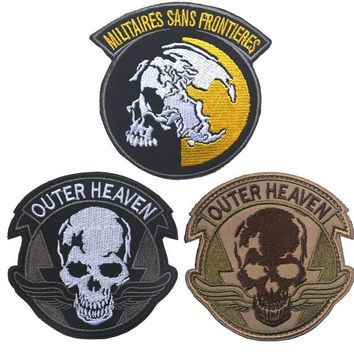 Metal Gear Solid The Phantom Pain Outer Heaven patch militaires sans frontieres hook loo tactical patches morale for coat vest