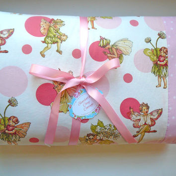 Fairy Baby Quilt - Crib Quilt - Baby Nursery Bedding - Fairies Bedding - Fairy Themed - Michael Miller
