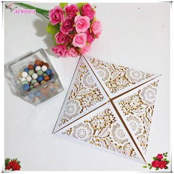 30pcs Personalized Custom Hollow Laser Cut Wedding Invitations Card with Single-layer blank inside pages Party Supplies 5ZSH193