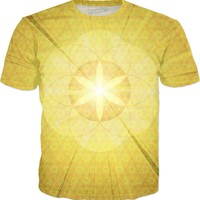 Blast Off To Sacred Enlightenment | Fractal Clothes | Rave & Festival Shirt