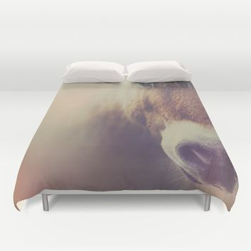 The curious girl Duvet Cover by HappyMelvin | Society6
