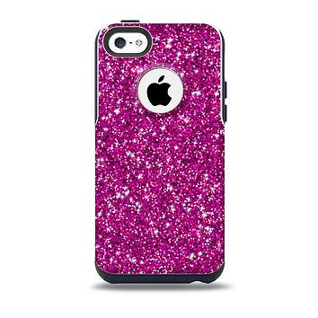 The Bright Pink Glitter Skin for the iPhone 5c OtterBox Commuter Case