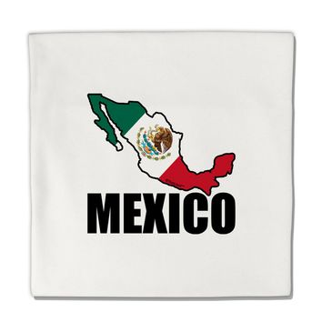"Mexico Outline - Mexican Flag - Mexico Text Micro Fleece 14""x14"" Pillow Sham by TooLoud"