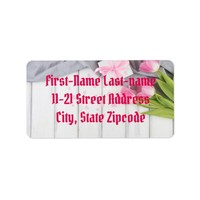 Pink Tulips Label