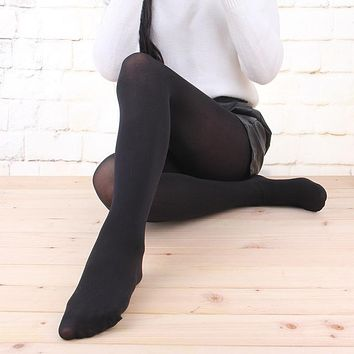New Women Sexy Tights 100D Velvet Spring Autumn Warm Pantyhose Stockings Nylon Elastic Step Foot Seamless Panty Hose Hosiery