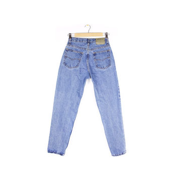 90s JORDACHE high waisted jeans / vintage 1990s / skinny - slim fit / high rise / tapered leg / size 7 - 8