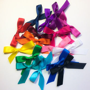 Satin Ribbon Shoe Laces Pair Choose Your Color