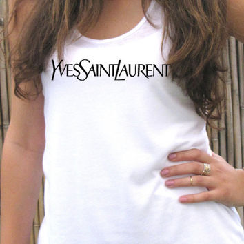 YSL tank top for women, tee T shirt, Screenprint, clothing