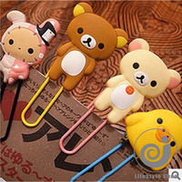 24 pcs Rilakkuma rubber bookmark paper clips Birthday Party Favors