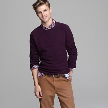 Men's sweaters - fine lambswool - Marled lambswool sweater - J.Crew
