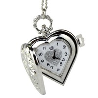 Perfect Gift Vintage Steampunk HEART Harry Potter Locket Style Pendant Pocket Watch Necklace Levert Dropship Dec26
