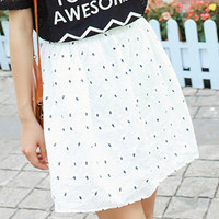 High Waist Mini Skirt Polka Dot Printed