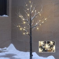 Lightshare 4FT 48L LED Snow Tree, Warm White Lights (update)